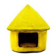 جای خواب سگ کلبه ای زرد