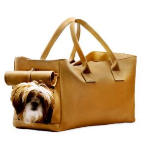 کیف حمل سگ چرم کد 105