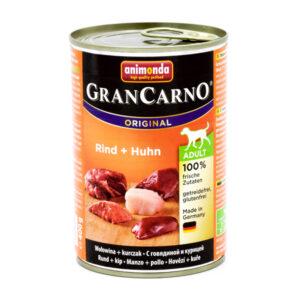 کنسرو سگ گرن کارنو حاوی گوشت گاو و مرغ