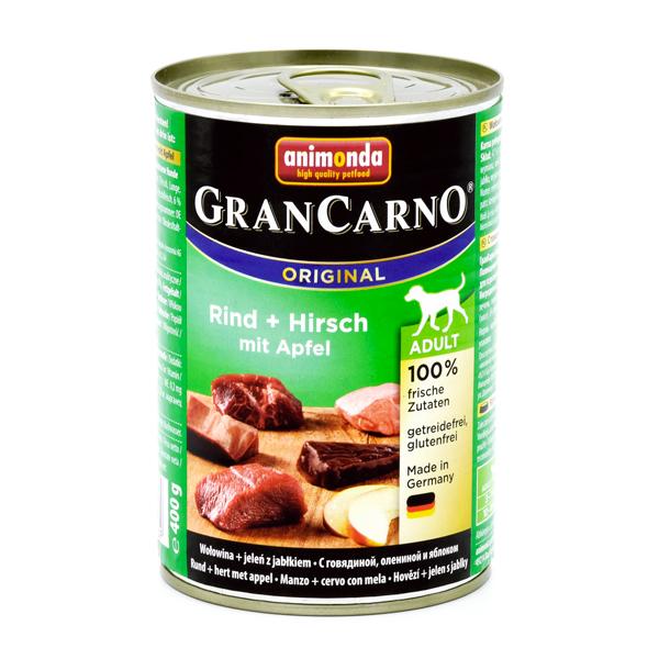 خرید کنسرو سگ گرن کارنو حاوی گوشت گاو و گوزن و سیب