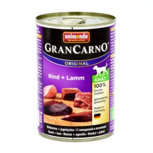 کنسرو سگ گرن کارنو حاوی گوشت بره و گاو