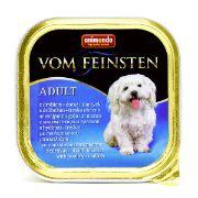 غذای سگ کاسه ای ووم فیستن حاوی گوشت پرندگان و ماهی کاد مخصوص سگ بالغ