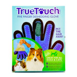 دستکش ماساژور و جمع کننده موی سگ و گربه