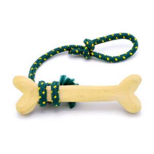 اسباب بازی سگ مدل دندان گیراستخوانی از چنس چوب و کنف