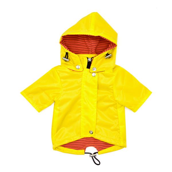 کاپشن بارانی مخصوص سگ کد S22 کلاهدار زرد