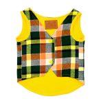 لباس سگ کد49 طرح جلیقه زرد رنگ