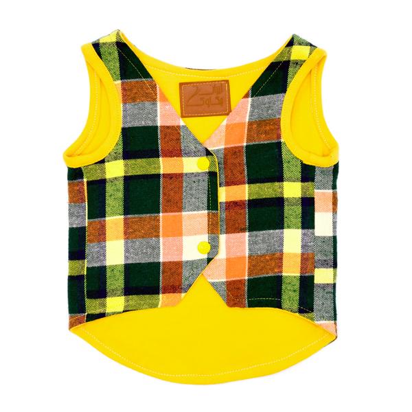 لباس سگ کد49 زرد رنگ