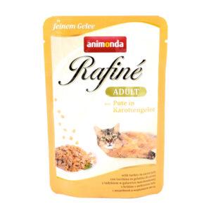 پوچ رافینه حاوی گوشت بره ژله و سبزیجات مخصوص گربه بالغ