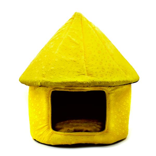 جای خواب سگ و گربه کد CH070 طرح کلبه زرد