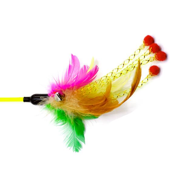 اسباب بازی گربه همراه با توپ زنگوله دار