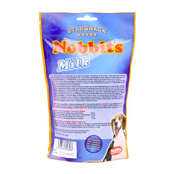 غذای تشویقی سگ نوبیتس با طعم شیر برند نوبی