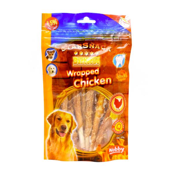 غذای تشویقی سگ میوه ای استار اسنک با دورپیچ مرغ