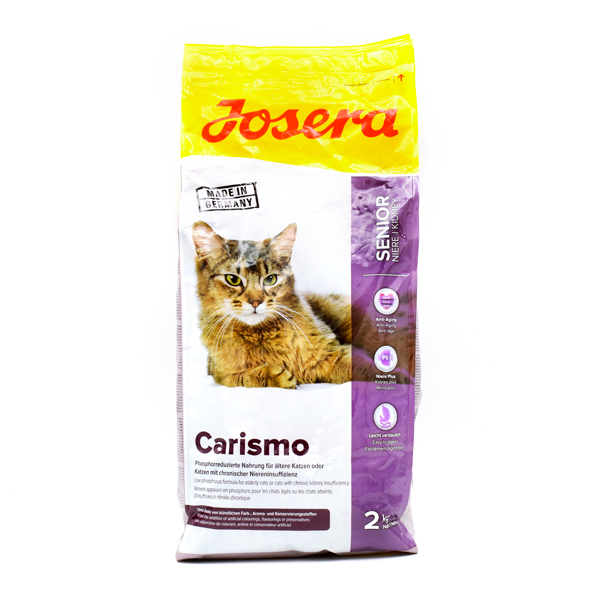 غذای خشک گربه carismo جوسرا مخصوص گربه های بالای 6 سال