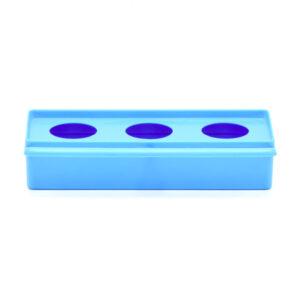 دانخوری سه سوراخ معمولی آبی با امکان نصب روی دیواره قفس
