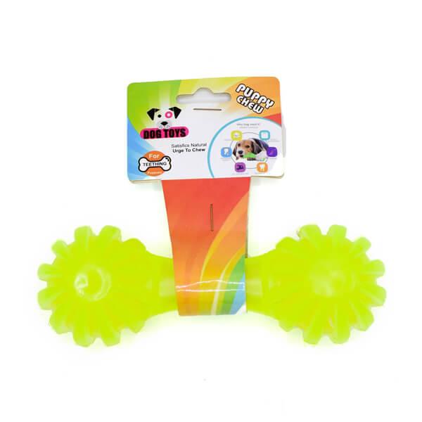 اسباب بازی سگ مدل دندان گیر دمبل و گرز