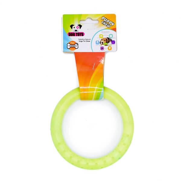 اسباب بازی سگ مدل دندان گیر حلقه ای