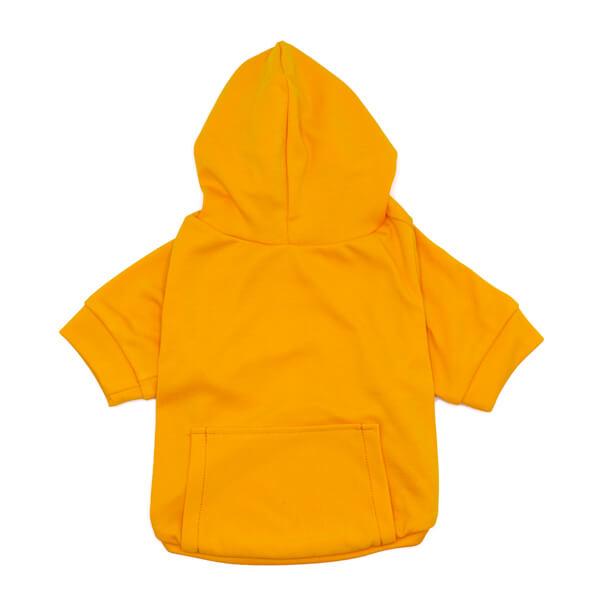 لباس سگ کد L111 کلاه دار زرد