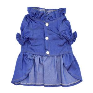 لباس سگ کد L140 آبی