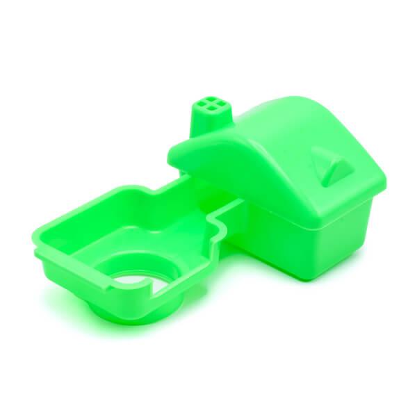 کلبه همستر سبز رنگ از جنس پلاستیک مقاوم