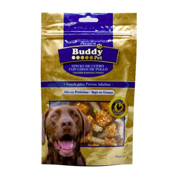 غذای تشویقی سگ با طعم مرغ و برنج Buddy کد TR-023 صد گرمی