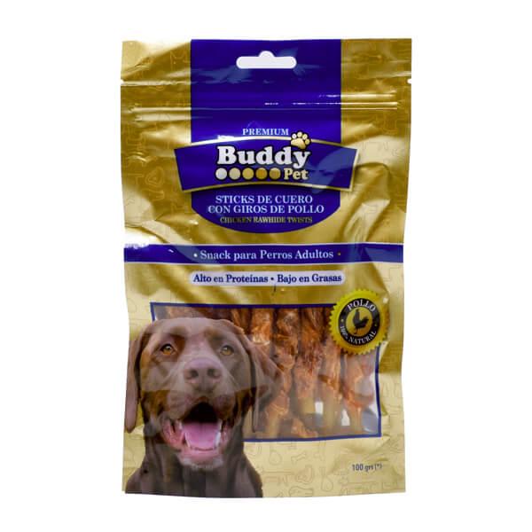 غذای تشویقی سگ با طعم مرغ با دورپیچ گوشت Buddy کد TR-020