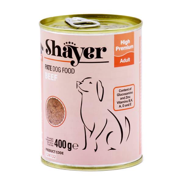 کنسرو سگ با طعم گوشت قرمز 400گرمی شایر کد 124132