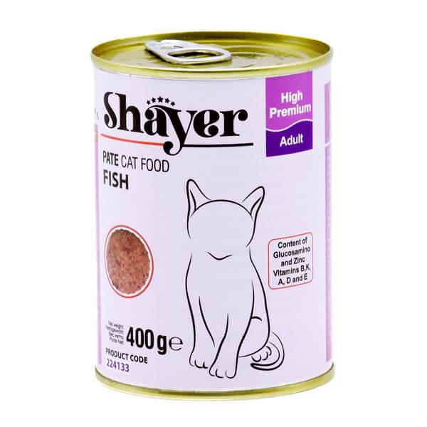 کنسرو گربه شایر با طعم ماهی 400گرمی کد 224133