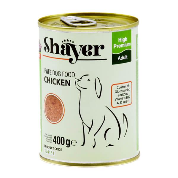 کنسرو سگ با طعم مرغ 400 گرمی شایر کد124131