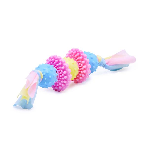 اسباب بازی دندانی سگ مدل توپ و حلقه کد 339 رنگ صورتی و آبی