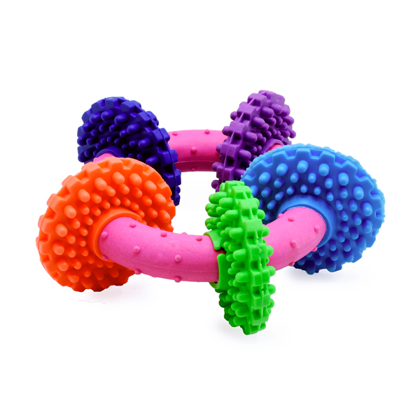 اسباب بازی دندانی حلقهای کد 336 با رنگ های متنوع و شاد