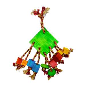 اسباب بازی پرنده کد A26 از جنس چوب خوراکی