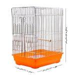 قفس پرنده,قفس مرغ مینا,قفس پرنده مخصوص مرغ مینا رنگ نارنجی