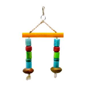 اسباب بازی پرنده کد F40 با رنگ های شاد مناسب برای تزیین قفس پرنده