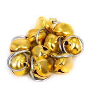 حلقه پرنده زنگولهدار سیمی کوچک H15 طلایی رنگ