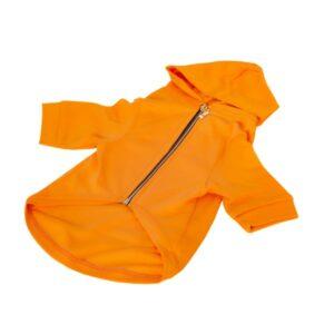 لباس سگ مدل سویشرت کلاه دار کد DA153 نارنجی رنگ