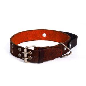 قلاده گردنی چرم طبیعی تک لایه مخصوص سگ های نژاد بزرگ