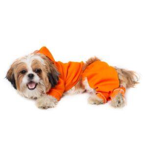 لباس سگ طرح سویشرت و شلوار کد 113 نارنجی رنگ