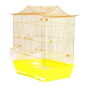 فروش قفس پرنده رنگ طلایی کد 602 برند میگ میگ پت