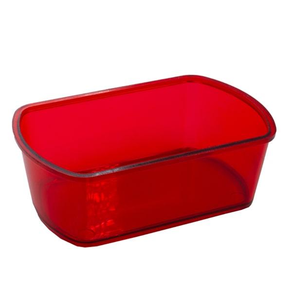 ظرف غذا خوری کریستالی همستر مدل چهارگوش