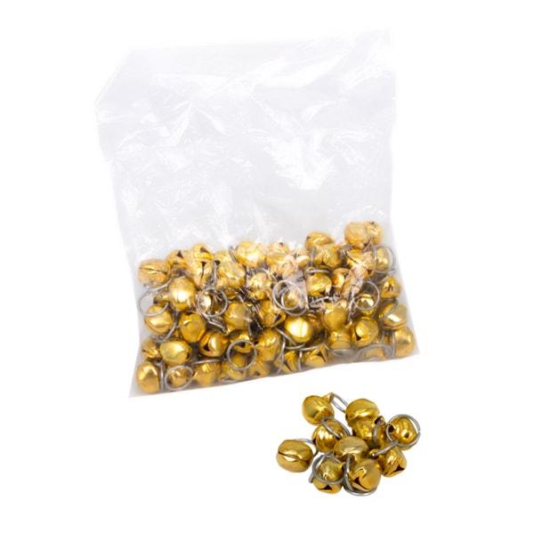 حلقه زنگولهدار طلایی و نقره ای سیمی بزرگ H14