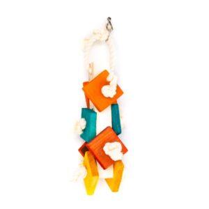 اسباب بازی پرنده با رنگ خوراکی کد A15 با رنگ نارنجی و آبی