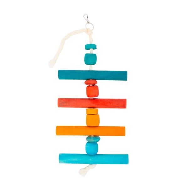 اسباب بازی پرنده با رنگ خوراکی کد A19 مدل گوی و نرده رنگی
