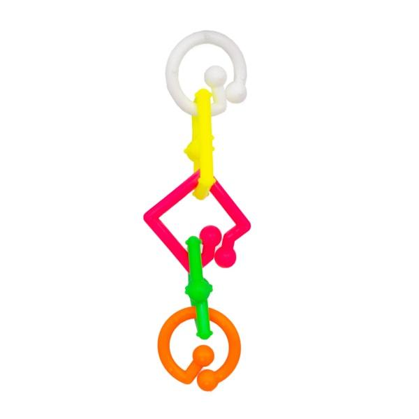 اسباببازی پرنده مدل پلاستیکی نشکن 01 با رنگ های متنوع و اشکال هندسی مختلف