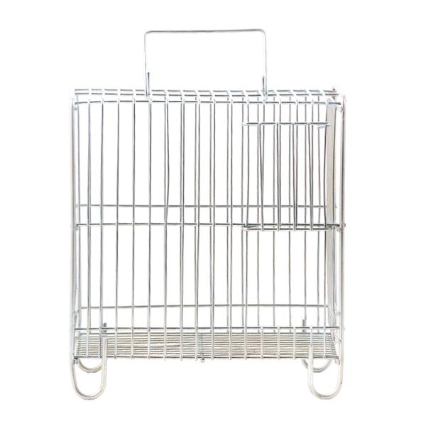 قفس سفید حمل پرنده ضد زنگ سایز کوچک