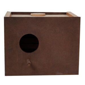 لانه پرنده طوطی برزیلی مدل قفل دار نصب بیرون از قفس