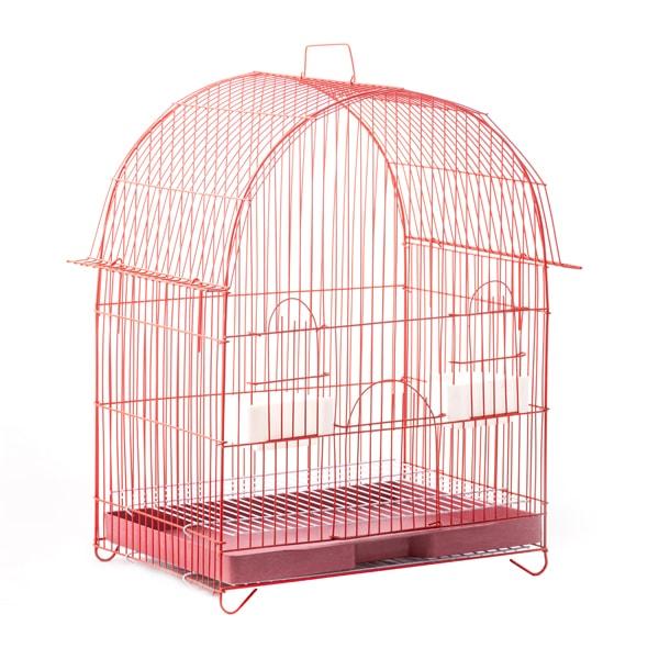 قفس قرمز تاشو سایز متوسط مخصوص پرندگان ریز جثه با رنگ قرمز