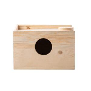 لانه چوبی پرنده عروس هلندی کد ASH4 دارای سقف کشویی