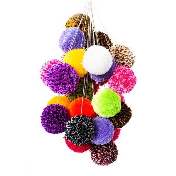 توپک قفس طرقه با توپ های رنگارنگ