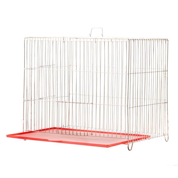 قفس پرنده مدل بازاری سایز متوسط قرمز رنگ