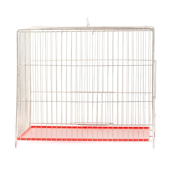 قفس پرنده مدل بازاری با کفی قرمز رنگ سایز متوسط